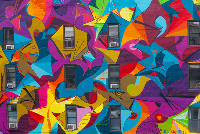 Swedish mural in Brooklyn, NYC